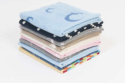 Hippychick - Soft Fleece Cot Blanket - 100% Natural Cotton - 100x150cm