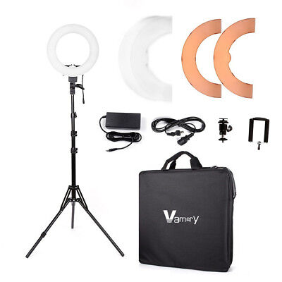 """12"""" LED Photography Camera Ring Light Dimmable 5500K Lighting Photo Video Stand"""