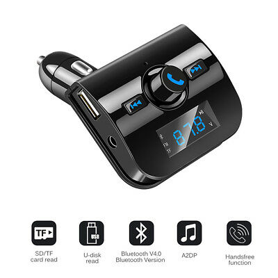 Handsfree Car Kit Wireless Bluetooth FM Transmitter MP3 Player USB Charger New