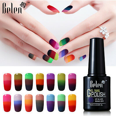 Belen Thermal Color Changing UV Gel Nail Polish Soak Off Base Top Salon