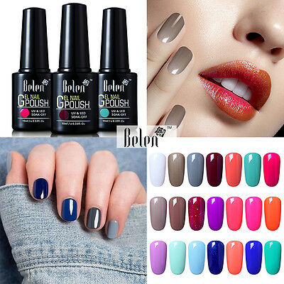 Belen 10ml Soak Off Gel Polish Nail Art UV LED Sealer Base Coat Manicure