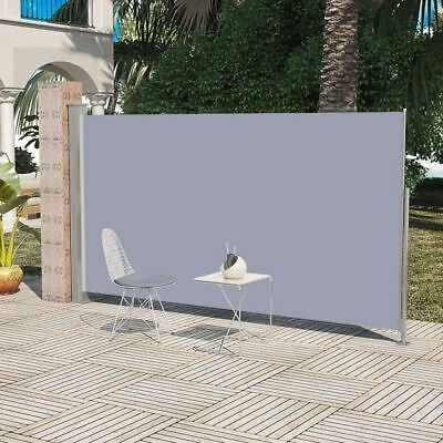 vidaXL Auvent latéral rétractable 160x300cm gris Paravent Store vertical Patio#