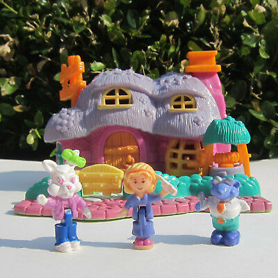 Mini Polly Pocket Rabbit House 100% Komplett Playset Animal Wonderland 1994