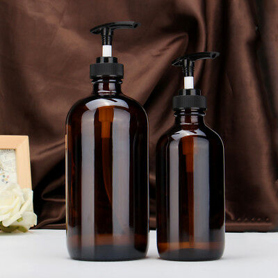 250/500ml  Amber Glass Spray Bottles Trigger Essential Oil Dispensers Press Head