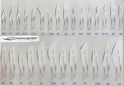SWANN MORTON NON STERILE SCALPEL BLADES, SOLD x 10's, ALL PATTERNS