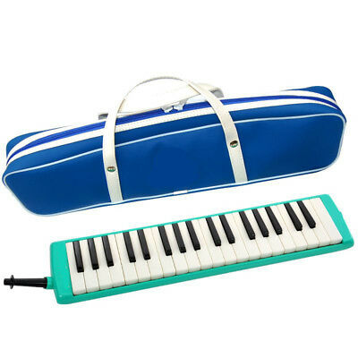 A07 37 Piano Keys Green Musical Instrument Melodica Pianica With Carrying Bag O