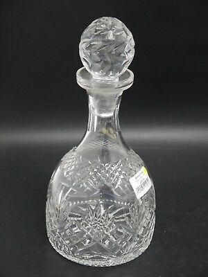 Nazeing England Hand Made Lead Crystal Decanter with Stopper (CR141)