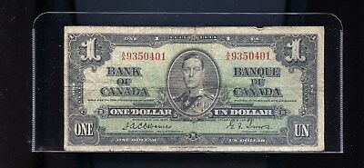 1937 Bank of Canada $1 Osbourne Towers DCW5