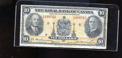 1935 Royal Bank of Canada $10 DCW18