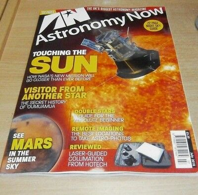 Astronomy Now magazine JUL 2018 Touching the Sun, Remote Imaging, 'Oumuamua &