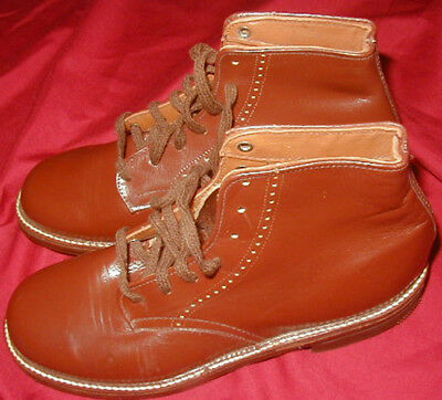 Original WWII Home Front US Army type Service Shoes made for Children Homefront