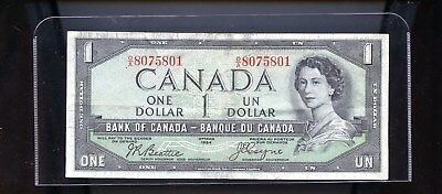 1954 Bank of Canada $1 Devil's Face note   DCW31