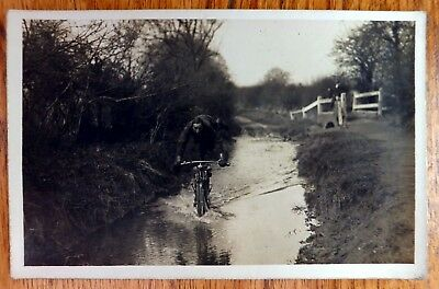 Vintage Motorcycle Photographic Postcard BE346