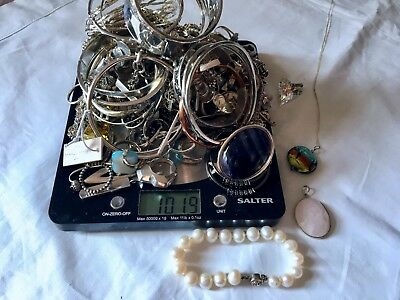 Sterling silver joblot over 1kg inc Tiffany, Armani, Links of london & Pandora