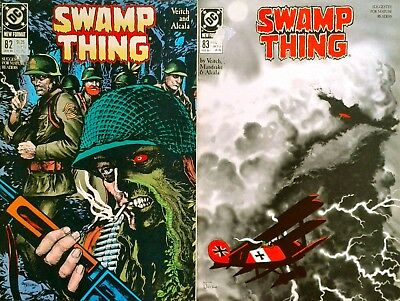 SWAMP THING No 82 and 83 - SGT ROCK - ENEMY ACE - DC Comics