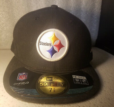 abda78dfd PITTSBURGH STEELERS New Era 59Fifty On Field NFL Cap Hat Size 7 5/8 RETAIL  $35.