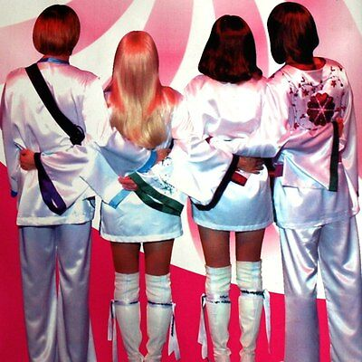 ABBA Biographie Konzert Plakat = Essen 2004 DOPPELSEITIG Thank you for the Music