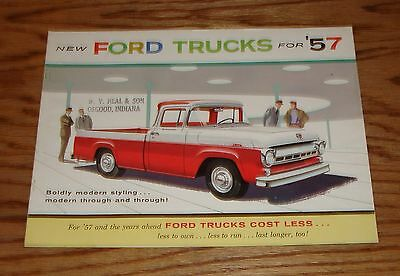 Original 1957 Ford Truck Full Line Deluxe Sales Brochure 57 Pickup Ranchero