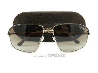1ec4dc6a72373 New Tom Ford Sunglasses TF467 Justin 50H Gold Brown Polarized FT0467 S  Authentic