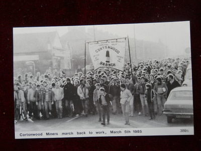 Political Postcard, Cortonwood Miners March Back to work, 5th March 1985