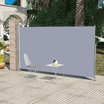 vidaXL Auvent latéral rétractable 180x300 cm gris Paravent Store vertical Patio#
