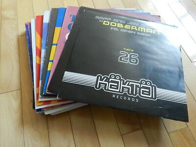 "25 x House Techno Trance Mix Dance Bundle VG to VG + 12"" USED"