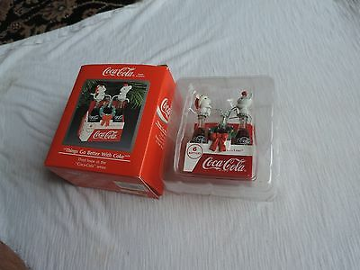 Enesco Coca Cola Things Go Better With Coke Ornament 1991 Mice
