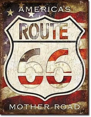Route 66 Amerika Mother Road USA Reisen Metall Schild Vintage Design