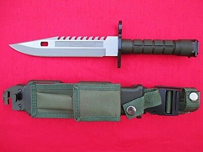 Tough Combat Ready M9 M-9 Knife Smith & Wesson Special Ops Sawteeth, Wire Cutter