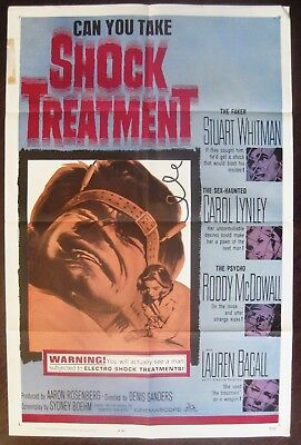 Shock Treatment 1964 Stuart Whitman Original US One Sheet Poster