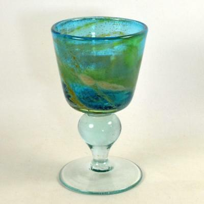Maltese MDINA Sea and Sand Large Goblet - Signed - 1977 (a)