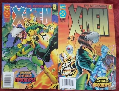 Marvel Comics The Astonishing X-MEN #3 & #4 The Age Of Apocalypse (1995) NM