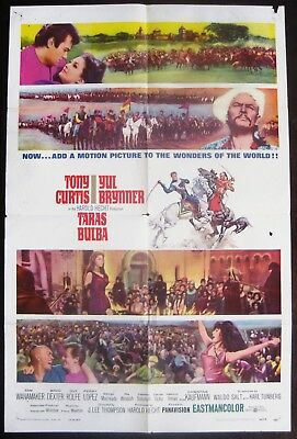 Taras Bulba 1962 Tony Curtis Yul Brynner Original US One Sheet Poster