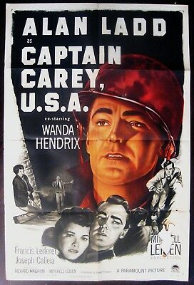 Captain Carey, U.S.A. 1950 Alan Ladd Original US One Sheet Poster