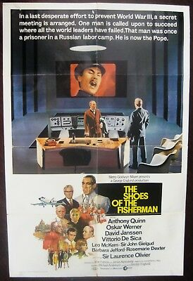 The Shoes Of The Fisherman 1969 Anthony Quinn Laurence Olivier US Poster