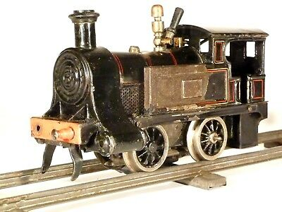 "Bing Spur 0 13762 Marklin track uralt live steam locomotive tinplate ""Kraftlok"""