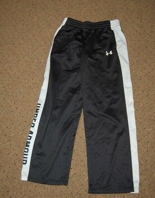 BLACK Boys UNDER ARMOUR YXL XL SWEATPANTS TRAINING Pants POCKETS GOOD USED LOOSE