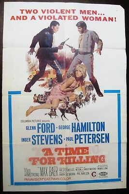The Long Ride Home (A Time For Killing) 1967 Glenn Ford Inger Stevens US Poster