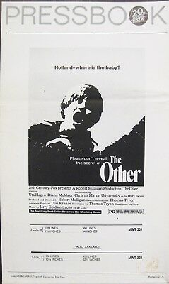 The Other 1972 Thomas Tryon Original US Press Book