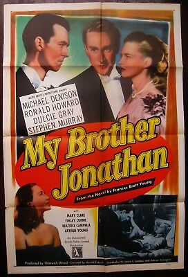 My Brother Jonathan 1949 Michael Denison Dulcie Gray Finlay Currie US Poster