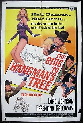 Road To Hangman's Tree 1967 Jack Lord Melodie Johnson James Farentino US Poster