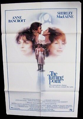 The Turning Point 1977 Anne Bancroft Shirley MacLaine Original US Poster