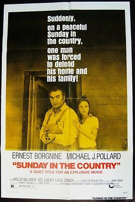 Sunday In The Country 1974 Ernest Borgnine Michael J Pollard Original US Poster