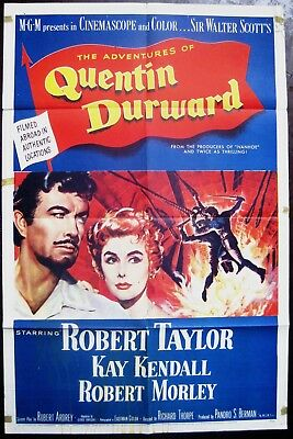 The Adventures Of Quentin Durward 1955 Robert Taylor Kay Kendall US Poster