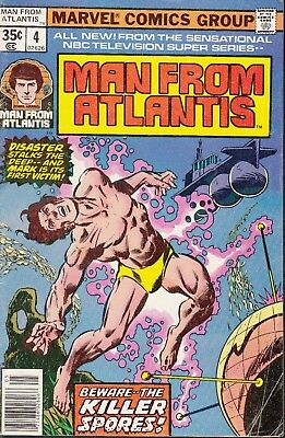 Man From Atlantis  #4 1978 Tv Series-Killer Spores- Mantlo/ Robbins...fn-