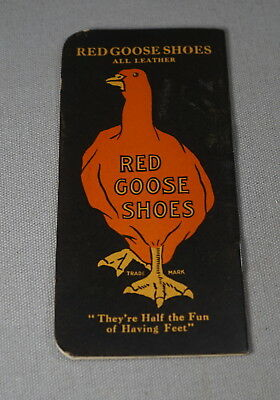 Original Early 1900's Red Goose Shoes Advertising Graph Paper Pocket Note Pad