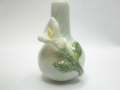 Dollhouse Miniature Original ceramic vase by C. Lecoutre -Celadon lily