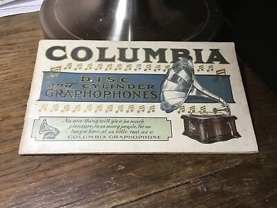 Columbia Disc And Cylinder Graphophone Catalog