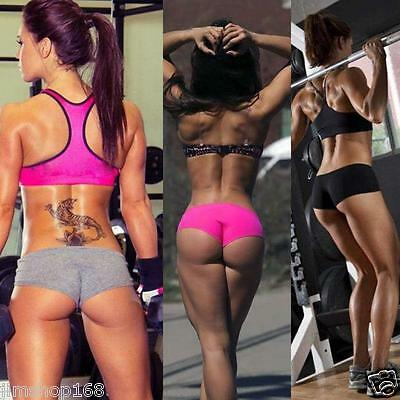 Women Sports Shorts Trousers Athletic Gym Workout Fitness Yoga Leggings Pants