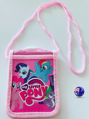 Girl Kid My little Pony Opal Student ID Card Holder Badge Wallet Case Neck Strap